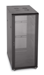 "LINIER 27U 19"" Cabinet with Glass Front and Vented Rear Doors"