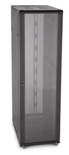 "LINIER 42U 19"" Cabinet with Glass Front and Vented Rear Doors"