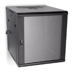 "LINIER 12U 19"" Swing-Out Wall Mount Cabinet with Glass Door"