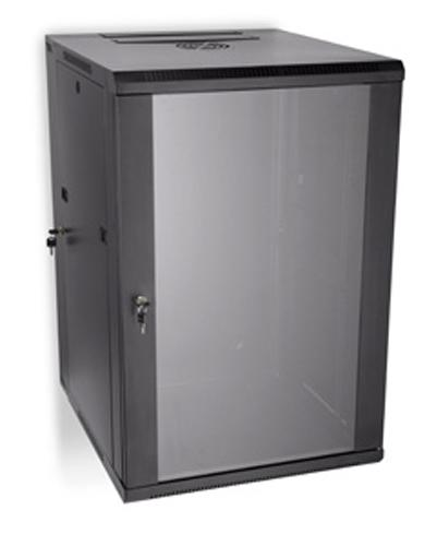 "LINIER 18U 19"" Swing-Out Wall Mount Cabinet with Glass Door"