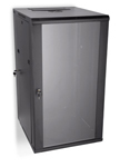 "LINIER 22U 19"" Swing-Out Wall Mount Cabinet with Glass Door"