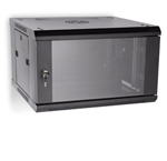 "LINIER 6U 19"" Wall Mount Cabinet with Glass Door"