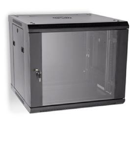 LINIER 9U 19&quot; Wall Mount Cabinet with Glass Door