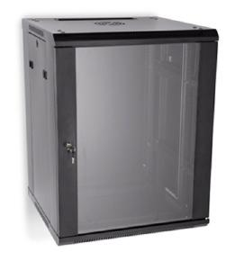 "LINIER 15U 19"" Wall Mount Cabinet with Glass Door"