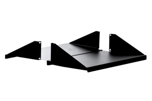"19"" Rack Mount Shelf, CPU Shelf, Black"