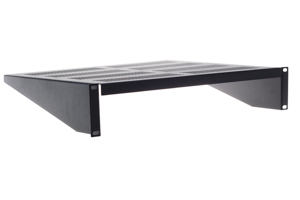 19&quot; Rack Mount Shelf, Cantilever, Vented, Black