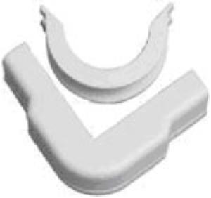 Cable Raceway Outside Corner, White, 1.25&quot;