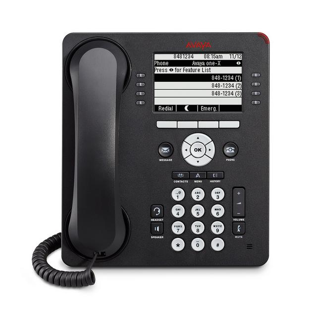 Avaya 9608 24 Line IP Phone, Charcoal, NEW