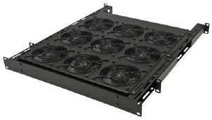 Great Lakes 2U Fan Tray with Nine 75 CFM Fans