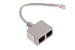 Cat5 Ethernet T-Adapter 1 male/ 2 female