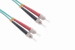 ST-ST 10 Gigabit Multimode Duplex 50/125 Fiber Patch Cable, 1M