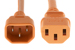 AC Power Cord, C13 to C14, 18 AWG, 2', Orange