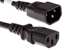 AC Power Cord, C13 to C14, 18 AWG, 6', Black
