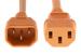 AC Power Cord, C13 to C14, 18 AWG, 10', Orange
