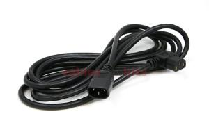 AC Power Cord, C13 Right Angle to C14, 18 AWG, 12'