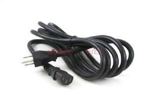 AC Power Cord, 5-15P to C13, 16 AWG, 8', Black