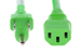 AC Power cord, 5-15P to C13, 14 AWG, 3', Green