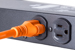 AC power cord, 5-15p to C13, 14 AWG, 3', Orange