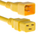 AC power cord, C20 to C19, 12 AWG, 6', Yellow