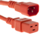 AC power cord, C14 to C19, 14 AWG 2ft, Orange