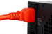 AC power cord, C14 to C19, 14 AWG 2', Orange