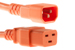 AC power cord, C14 to C19, 14 AWG, 4', Orange