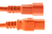 AC power cord, C14 to C19, 14 AWG, 6', Orange