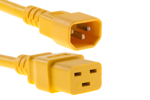 AC Power Cord, C14 to C19, 14 AWG, 10', Yellow