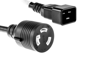 AC Power Cord, C20 to L6-30, 1 Foot
