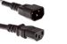 AC Power Cord, C13 to C14, 14 AWG, 2', Black