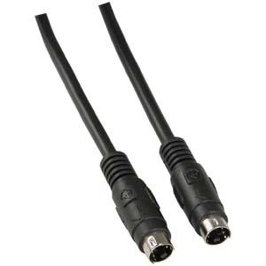 S-Video Cable Male to Male, 12', Black