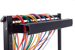 Great Lakes 1RU Horizontal Single-Sided Cable Organizer w/ Cover