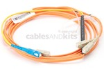 SC to SC Mode Conditioning 62.5/125 Fiber Patch Cable, 3 Meters