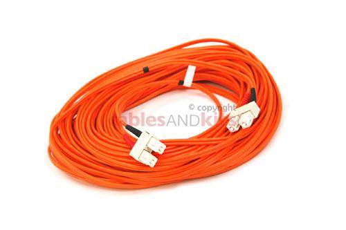 SC-SC Multimode Duplex 62.5 Premium Ceramic Fiber Cable, 30M