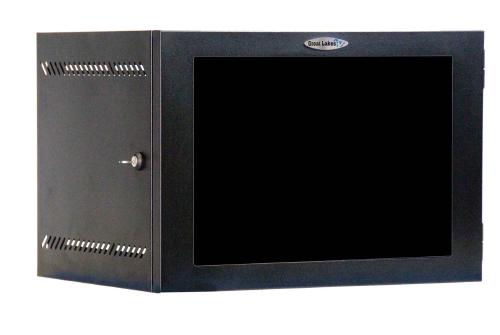 "Great Lakes 7U 19"" Wall Mount Cabinet with Plexiglas Door"