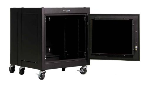 Great Lakes 11U WS Series Wall Mount Rack-Plexiglas Door & Sides