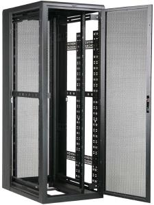 "Great Lakes 44U Enclosure, 24""Wx48""D, Mesh Front/Rear Door"