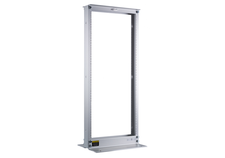 Great Lakes 24U Two Post Rack, Mill Anodized Finish