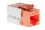 Cat6 RJ45 110 Type Keystone Jack, Orange