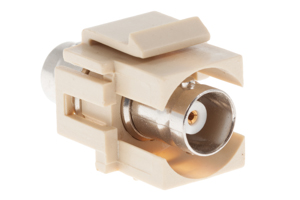 Keystone Snap In BNC Type F/F Module, Ivory