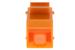 Cat5e RJ45 Inline Coupler Type Keystone Jack, Orange