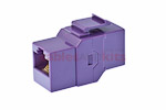 Cat5e RJ45 Inline Coupler Type Keystone Jack, Purple