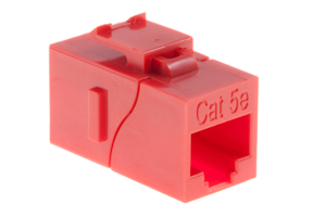 Cat5e RJ45 Inline Coupler Type Keystone Jack, Red