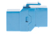 Cat6 RJ45 Inline Coupler Type Keystone Jack, Blue