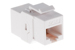 Cat6 RJ45 Inline Coupler Type Keystone Jack, White