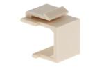 Keystone Snap In Wallplate Blank, Ivory