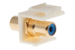 Keystone Snap In Blue RCA Type F/F Module, Ivory