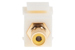 Keystone Snap In Yellow RCA Type F/F Module, Ivory