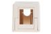 Keystone Surface Mount Box, 1 Port, Ivory