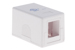 Keystone Surface Mount Box, 1 Port, White